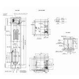 Máquina de gran capacidad de carga fletes Roomless ascensor ascensor
