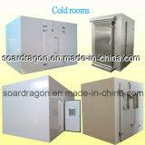 Quarto frio refrigerando do armazenamento do armazém pequeno