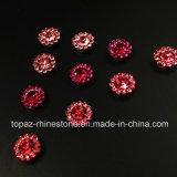 9 mm de la lumière rose fleur cristal Claw Paramètre perles de verre pour coudre sur Rhinestone (TP 9mm tout le lieutenant-rose)