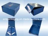 Коробка вина изготовленный на заказ подарка плоского пакета зеленой бумаги упаковывая складная