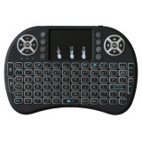 3 colores I8 mini teclado inalámbrico retroiluminado 2.4G teclado inalámbrico