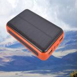 Banque d'énergie solaire à double sortie USB 8000mAh avec chargeur solaire LED