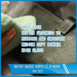 Carpeta de acrílico a base de agua de la piel del cuero de alto brillo