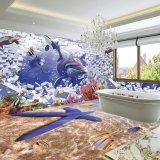 Les carreaux de mosaïque Vetrified vitré Salle de bains carrelage de sol en céramique 3D mur