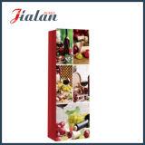 Sola bolsa de papel impresa del vino rojo de la botella aduana con las manetas