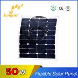 Panneau solaire 50W d'Exible de cellules de Sunpower de rendement de Flhigh