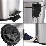 pattumiera della cucina dello scomparto di Deco del pedale del piede 30L con la benna interna di plastica