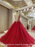 Perlando o vestido de noite vermelho M46 do partido do baile de finalistas de Tulle do vestido nupcial