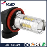 indicatori luminosi di nebbia automatici della lampadina H11 H16 H3 80W di 12V LED per l'automobile