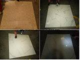 Azulejo de piedra natural esmaltado por completo pulido de mármol blanco del suelo de la mirada del material de construcción