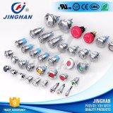 Jh8-LED 8mm con luz indicadora de la lámpara de cabeza plana para Terminales Interruptor Pulsador de metal