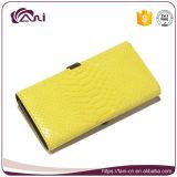Портмоне для повелительниц, конструкция Fani самое последнее китайское способа бумажника PU желтого цвета кожаный