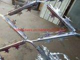 Soudés en acier galvanisé clôtures de fil de fer barbelé concertina rasoir