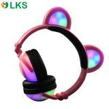 특허 디자인 빛을내는 LED 가벼운 입체 음향 사랑스러운 헤드폰