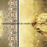 рамка Pigment&Disperse льва 100%Polyester напечатала ткань для комплекта постельных принадлежностей