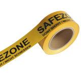 Gelbes und schwarzes warnendes Vorsicht-Band