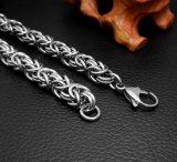 Bijoux en acier inoxydable Bracelet à bracelet en argent Silver Balck pour hommes