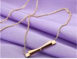 優雅な女性方法金によってめっきされるBowknotの吊り下げ式の鎖骨のネックレス