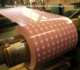El color hermoso cubrió la bobina de acero galvanizada con diverso modelo