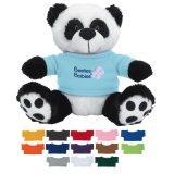 Выдвиженческая панда игрушки плюша в тенниске