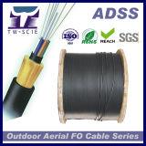 24 пяди оптического волокна 100m напольных кабеля сердечника Собственн-Поддерживает воздушное ADSS