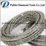 Le fil aggloméré de diamant de talons de revêtement en plastique a vu pour le découpage en pierre