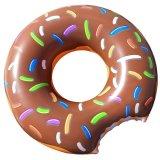 100cm 직경 커피 색깔 팽창식 도넛 수영 반지
