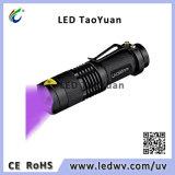 Свет 395nm 3W факела UV электрофонаря UV СИД Blacklight