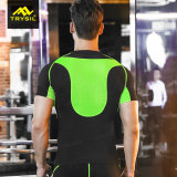 Camice maschii di compressione di ginnastica degli abiti sportivi all'ingrosso del Mens