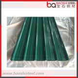 Folha da telhadura de PPGI/telha de telhado onduladas galvanizadas revestidas cor