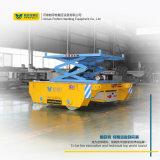 La antena de tijeras de la batería de la plataforma de trabajo automatizado de transferencia de material carro