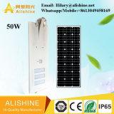 Outdoor 50W tous dans une rue à LED lampe solaire intégré