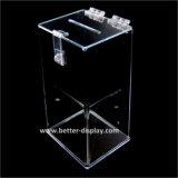 Прозрачная коробка пожертвования пластическая масса на основе акриловых смол (BTR-Y1011)