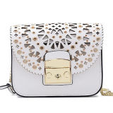 사슬 Emg5084를 가진 Handbag Leather Shoudler Bags 형식 Patterm 빈 숙녀