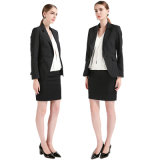 Black Classical Design Tr Ladies Veste de costume avec un bouton