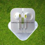 Fone de ouvido com fio barata de boa qualidade para iPhone 6 Earpods com controlo de volume do microfone