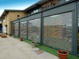Дверь занавеса Concertina панели PVC обеспеченностью решеток высокоскоростной электрической прозрачная (Hz-td025)