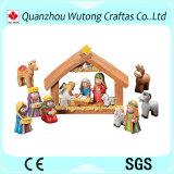 Figurines religiosi Handmade su ordinazione di natività del fumetto della resina delle statue della mangiatoia di serie
