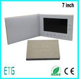 Folheto de Vídeo LCD personalizado com as empresas de cartões de saudação