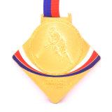 OEM 스포츠 하키 금 포상 메달 홀더 선물 상자 홀더 방아끈