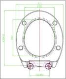 Sièges des toilettes décoratifs faits sur commande avec différentes configurations