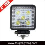 Luz del trabajo del cuadrado LED de la inundación del punto de la pulgada 15W del automóvil 4 para los vehículos del carro