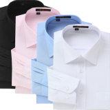 Il manicotto lungo della camicia casuale degli uomini elastico dimagrisce i vestiti neri adatti degli uomini delle camice di vestito dal Mens di colore solido degli uomini della camicia