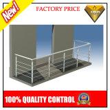Balustrade de balcon en acier inoxydable avec verre ou tuyau (JBD-B002)
