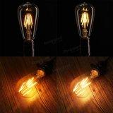 E27 St64 4W rimuovono lampada AC110/220V dell'indicatore luminoso di lampadina della PANNOCCHIA LED del filamento dell'annata di Dimmable Edison del coperchio la retro