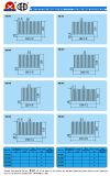 Dissipatore di calore di alluminio dell'espulsione con ISO9001: 2008 diplomato