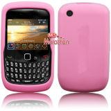 Caisse de peau de la courbe 8520 de Blackberry - protecteur rose d'écran