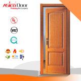 نار داخليّة يصنّف خشبيّة باب مدخل 100% مادّة صلبة باب