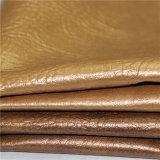 Cuoio lucido dorato del PVC di stile per la tappezzeria della mobilia del sofà (DS-B848)