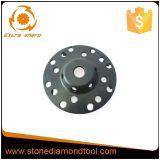 roda de moedura do copo do diamante 5-Inch para o assoalho do concreto/granito